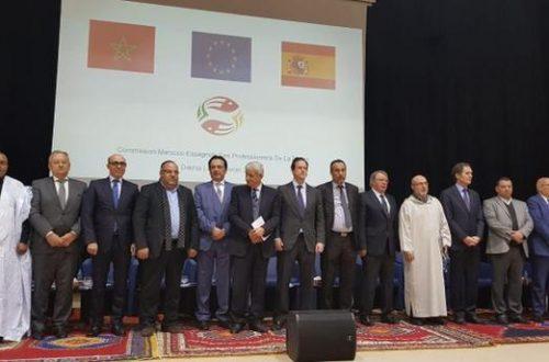 أشغال اللجنة المغربية الإسبانية المشتركة بالداخلة  16 فبراير2018