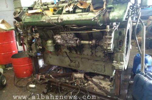 محرك مركب تعرض للانفجار