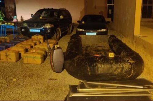 حجز مخدرات ومعدات تستهمل في التهريب الدولي للمخدرات عبر المسالك البحرية